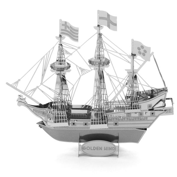 Educational Toys Golden Wind Pirate Ship 3D Metal Puzzle Magnetic 3d Jigsaw Puzzles