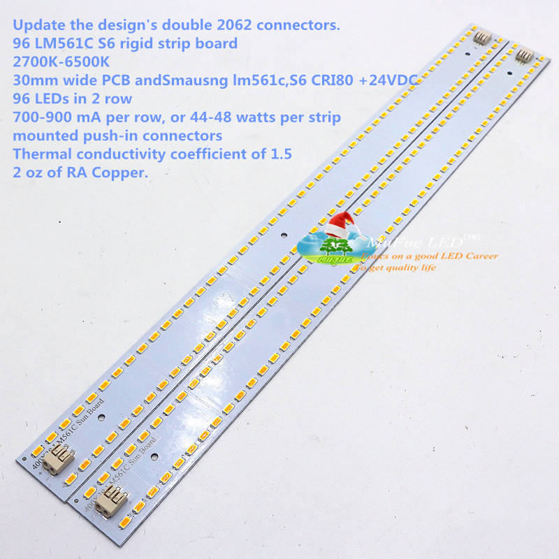 Samsung Lm561c lm301b QB 96 LED Quantum board 5630 30x400mm 96 leds LED strip