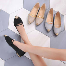Wholesale summer shoes office wear lady shoes flat shoe pointed toe casual lady footwear
