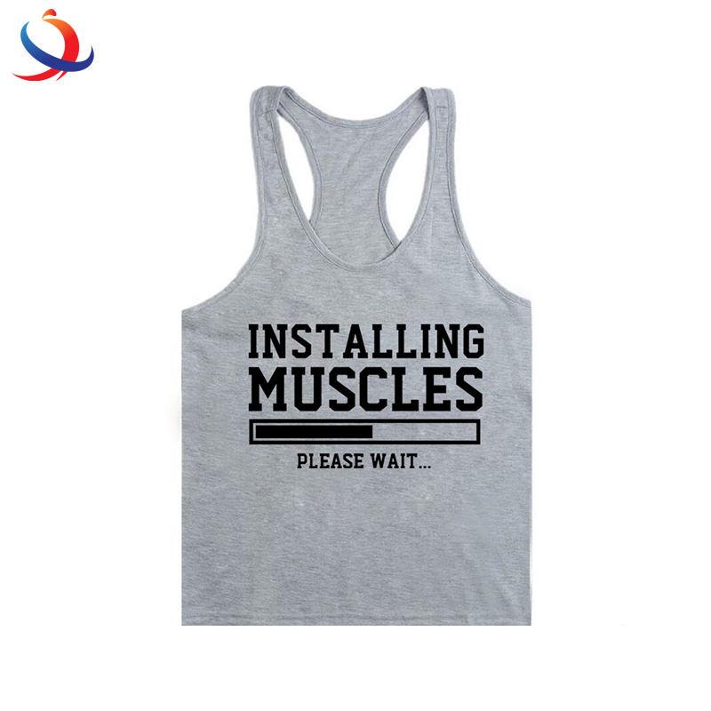 Male Gym Clothing Gym Stringer Mens Fitness Apparel