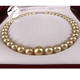 wholesale traditional luxury natural dark golden color quality south sea pearls necklace chain jewelry type