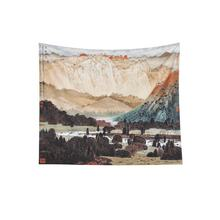 Savvydeco Landscape Painting Scenic Fine Art Oriental Tapestry For Sale