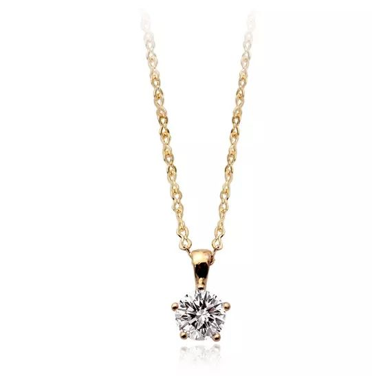 Gold costume jewellery wholesale prices single zircon stone necklaces for kids