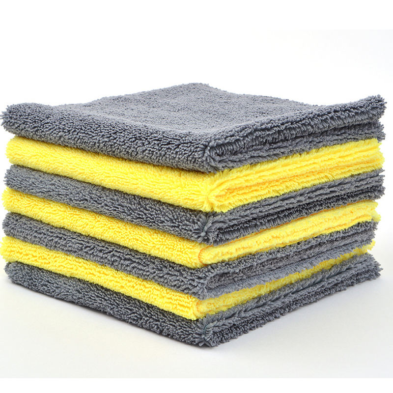 Custom factory wholesale edgeless car detailing accessories microfiber cleaning cloth