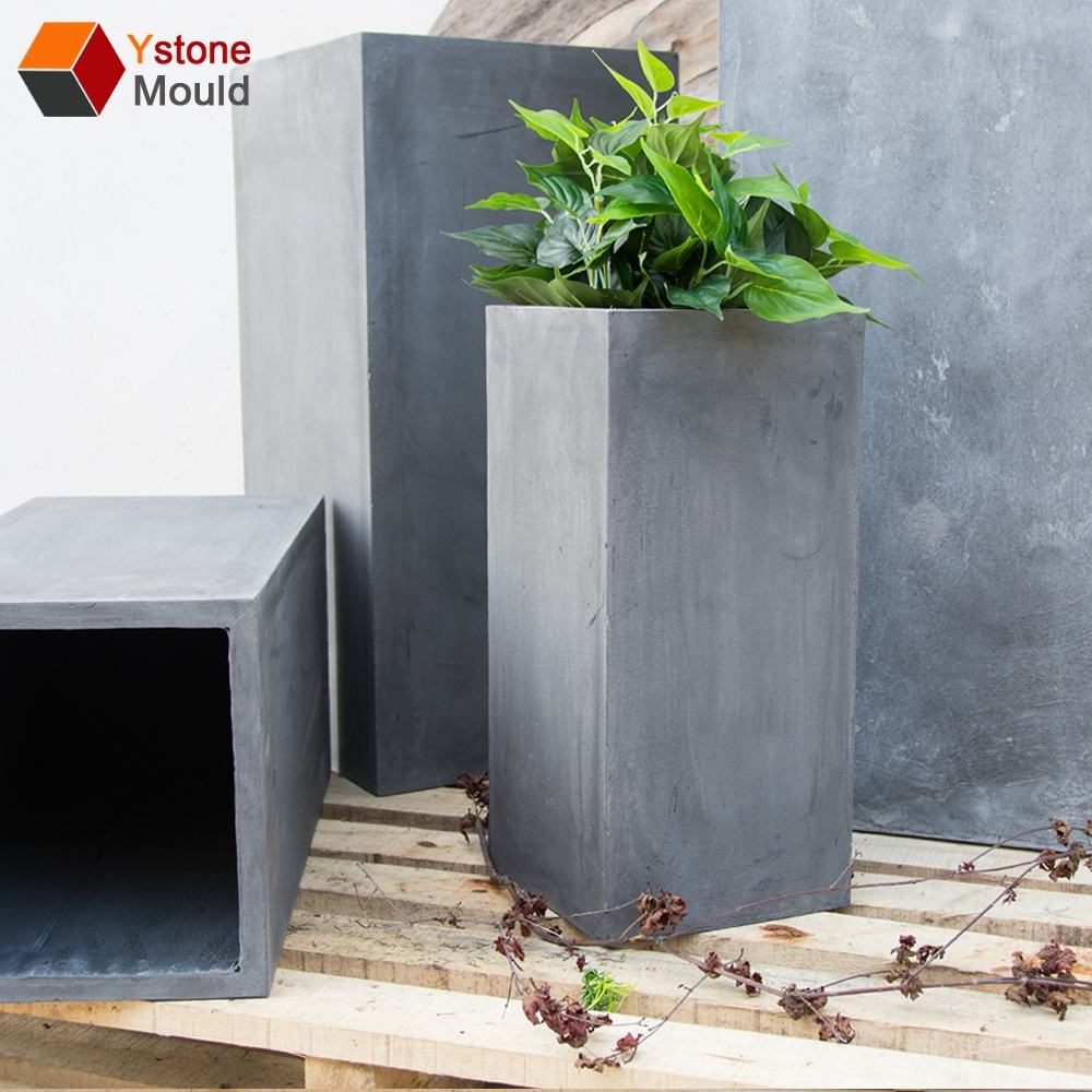 Hot sale smooth surface concrete silicon planter mold