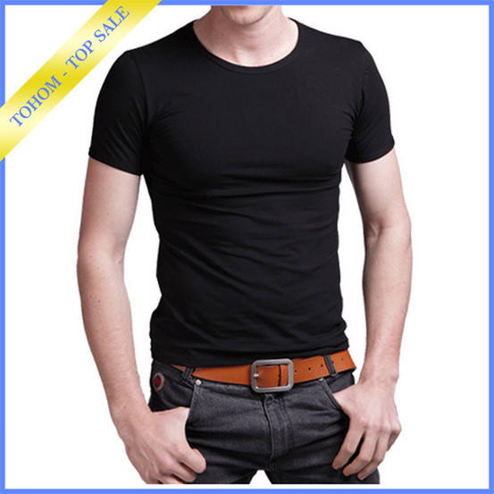 Hot sale high quality advertisement round neck t shirt men