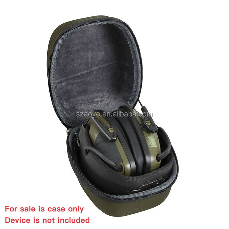 For Howard Leight Honeywell Impact Sport Sound Amplification Electronic Earmuff EVA Hard Protective Travel Case Carrying Bag