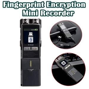 Portable Digital Recorder 8GB MP3 Professional Fingerprint Encryption Recorder