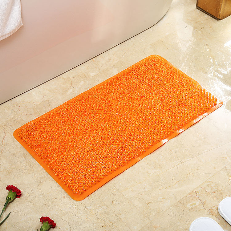 Good quality square shape home use relax pvc grass bath mat