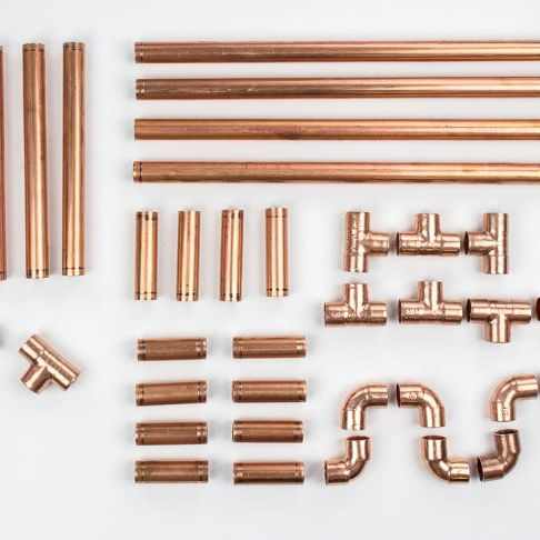 T2 Wholesale pure straight copper pipe and copper tube fitting 99.99% copper tubes