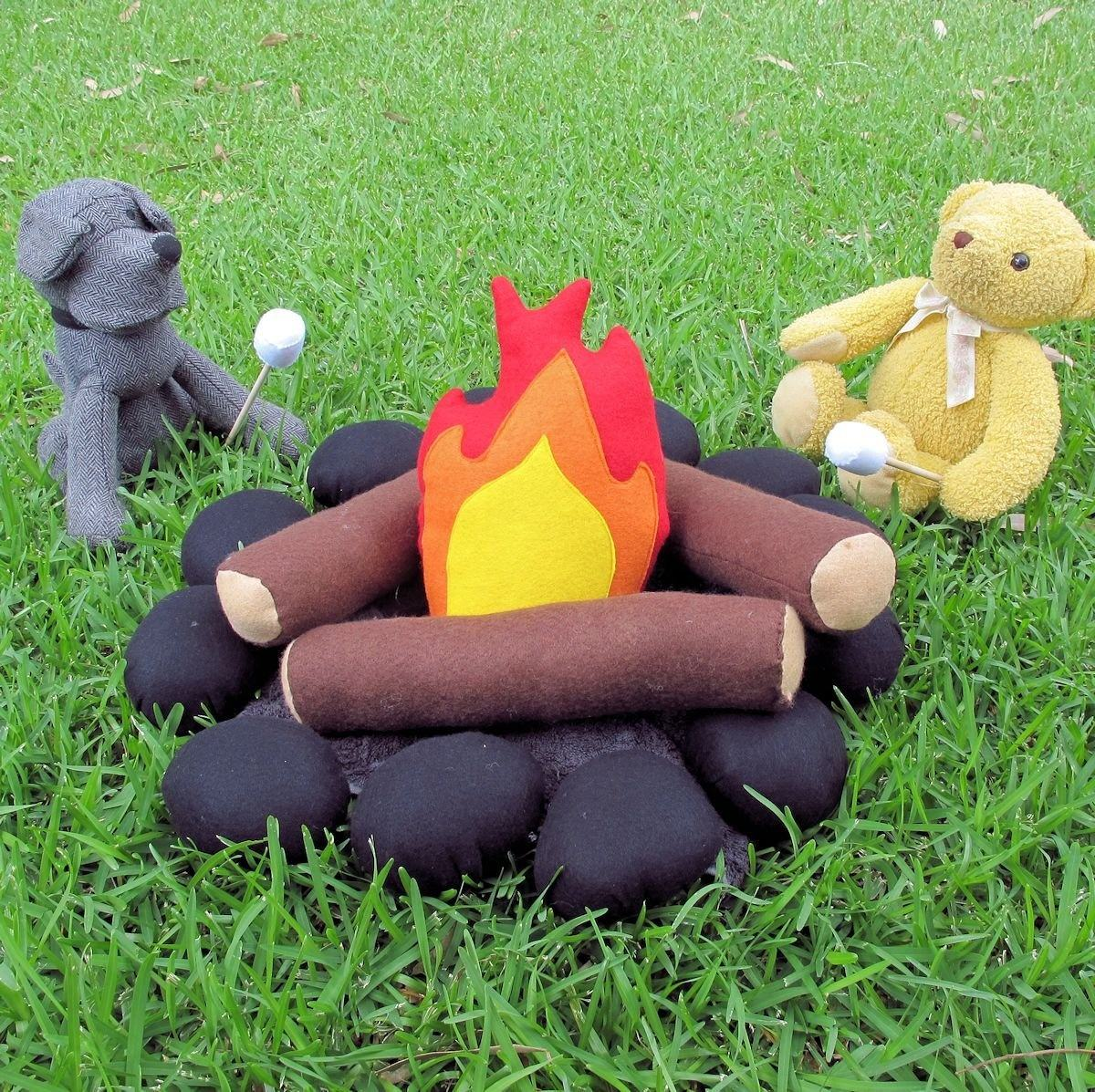 New Design Kids Camping Toy Felt Campfire Play Set for Pretend Play