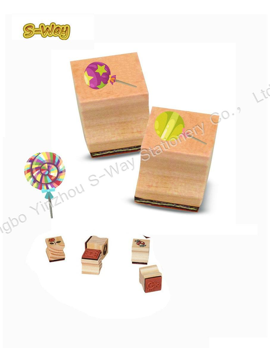 Candy rubber stamps,wood stamp