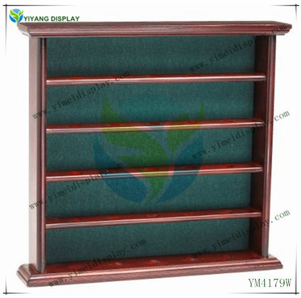 YM4179W Golf Gifts and Gallery Mahogany Golf Ball Display Cabinet - 25 Balls