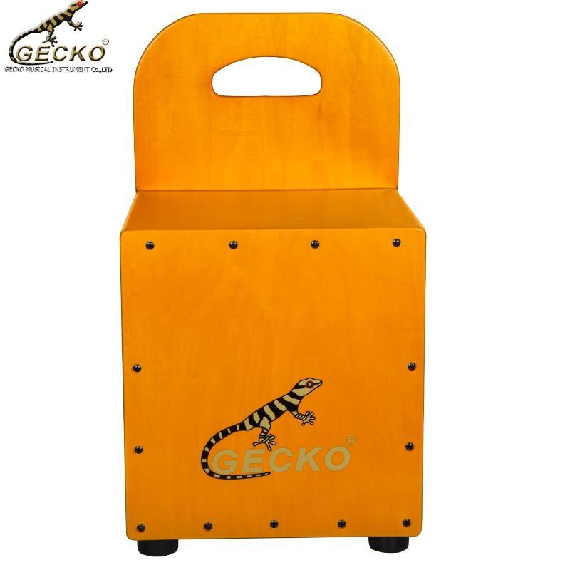Gecko colorful CM66 series Kindergarten Cajon Drum with Backrest Unique Cajon Wooden drum box