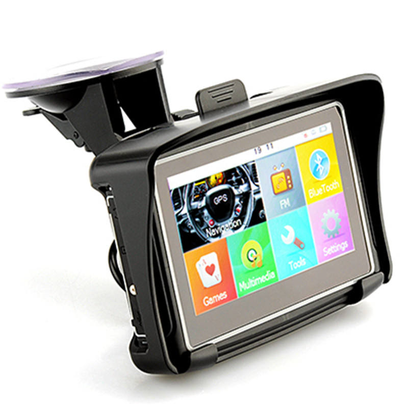 4.3inch Waterproof 256mb Car Motorbike GPS Navigator
