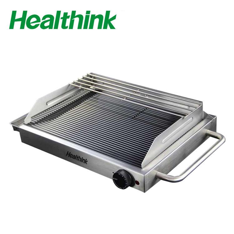 Chine portable barbecue électrique grill contact auto barbecue rainure verre gril CHG-A12S2