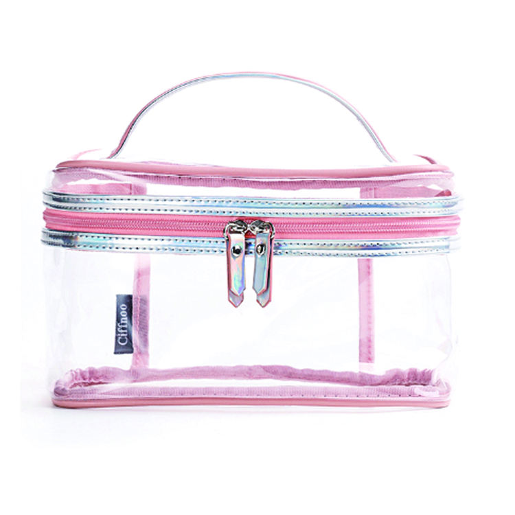 Environmental Protection PVC Transparent Cosmetic Bag Women Travel Make up Toiletry Bags Organizer Case