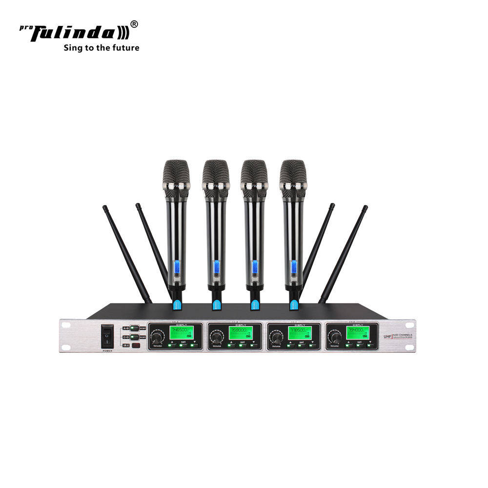 4 channels handy wireless microphone for speaker