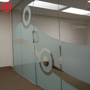 PVC zelfklevende privacy zandstraal vinyl film frosted glas decoratieve sticker