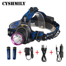Aluminium alloy Waterproof XML-T6 LED Bulb Bright Led Bicycle Light Rechargeable head torch Outdoor Running led Head lamp