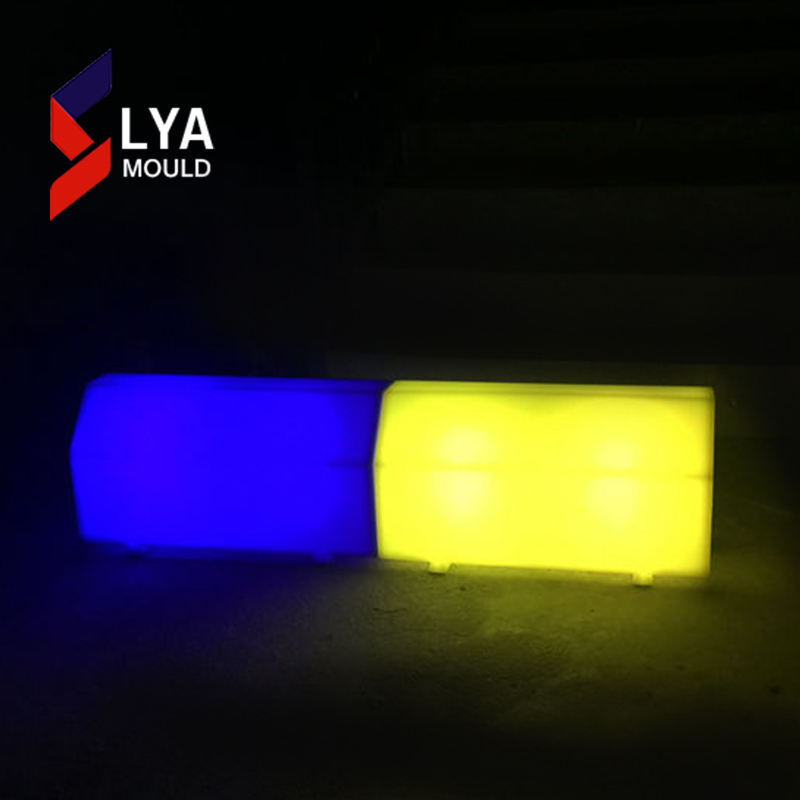 Paving Stone Type Plastic Lighted Led Curbstone With Standard Size