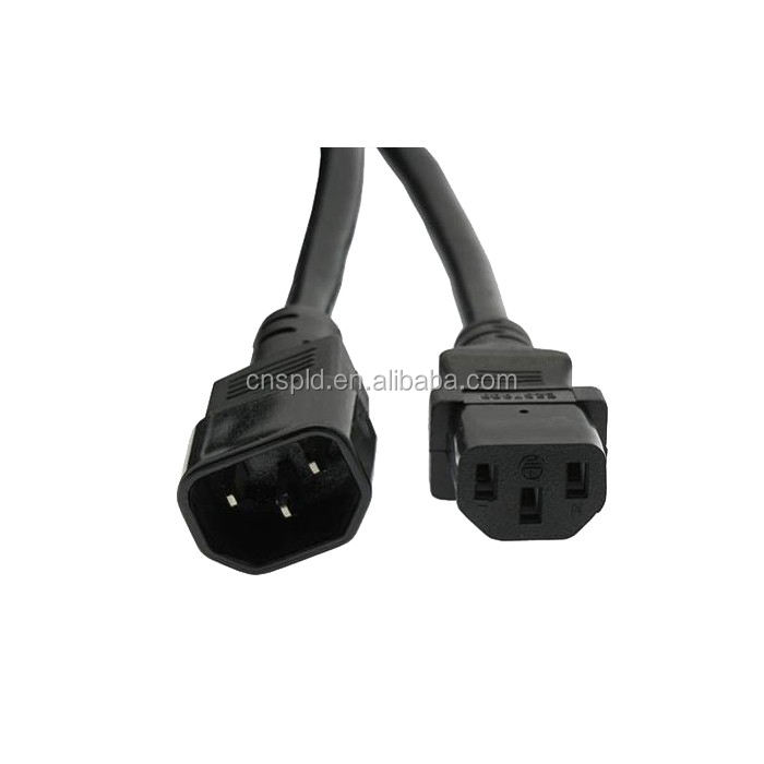 China Factory female socket C13 to C14 male plug 6ft Power Cords for computer