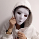 Masquerade Event Blank Mask Hip-Hop Show Kids DIY Paint Masks Adult White Full Face Party Paper Mask