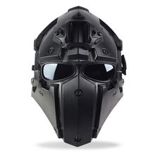 ActionUnion Army Tactical Motorcycle Safe Helmet with ARC Side Rails Shroud NVG Mount