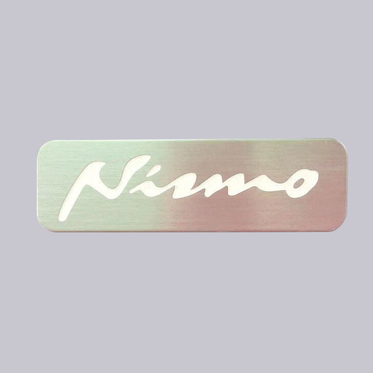 High Quality Soft Enamel Type And Single Packaged Style Custom Embossed Brand Logo Metal Nameplate For Car