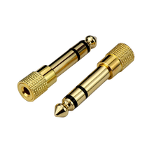 Stereo Audio Adapter  Gold-Plated Pure Copper  6.35mm (1/4 inch) Male to 3.5mm (1/8 inch) Female Headphone Jack Plug adapter