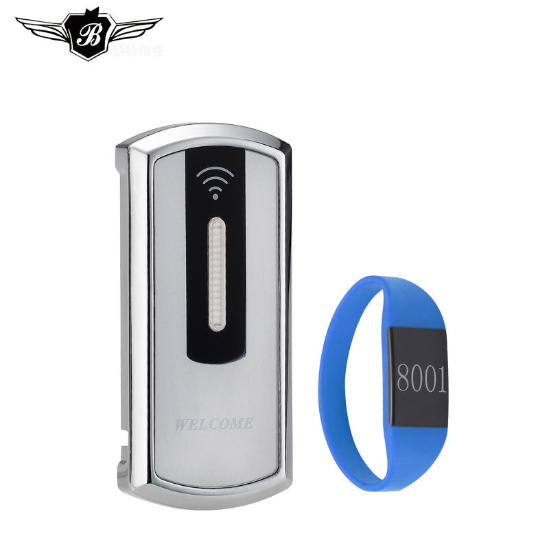 Electronic RFID Key Card Wristband Wireless RF Cabinet Locker Drawer Lock For Fitness Gym
