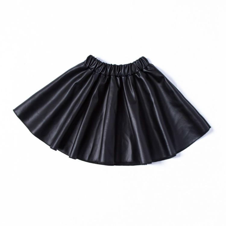 Toddler Kids Baby Girls Cute PU Leather Skirts
