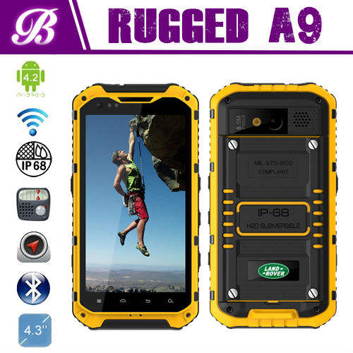 NFC прочный IP68 1G RAM 16G ROM 8.0M GPS Wi-Fi Bluetooth прочный мобильный телефон A9