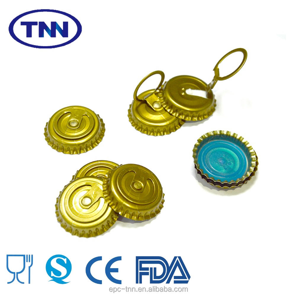 High quality TFS 26mm glass bottle ring cap for beer