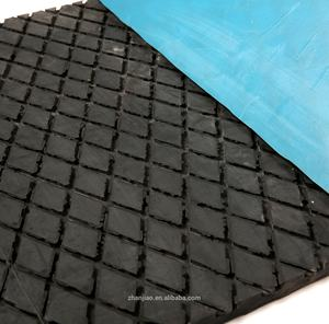 heat resistant latex/polyurethane ribbed corrugated rubber sheet