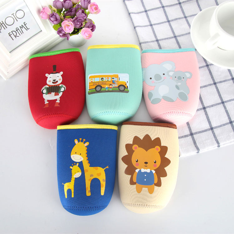 Neoprene Kids Children Water Bottle Sleeve Holder Baby Milk Bottle Cover Water Glass Cover