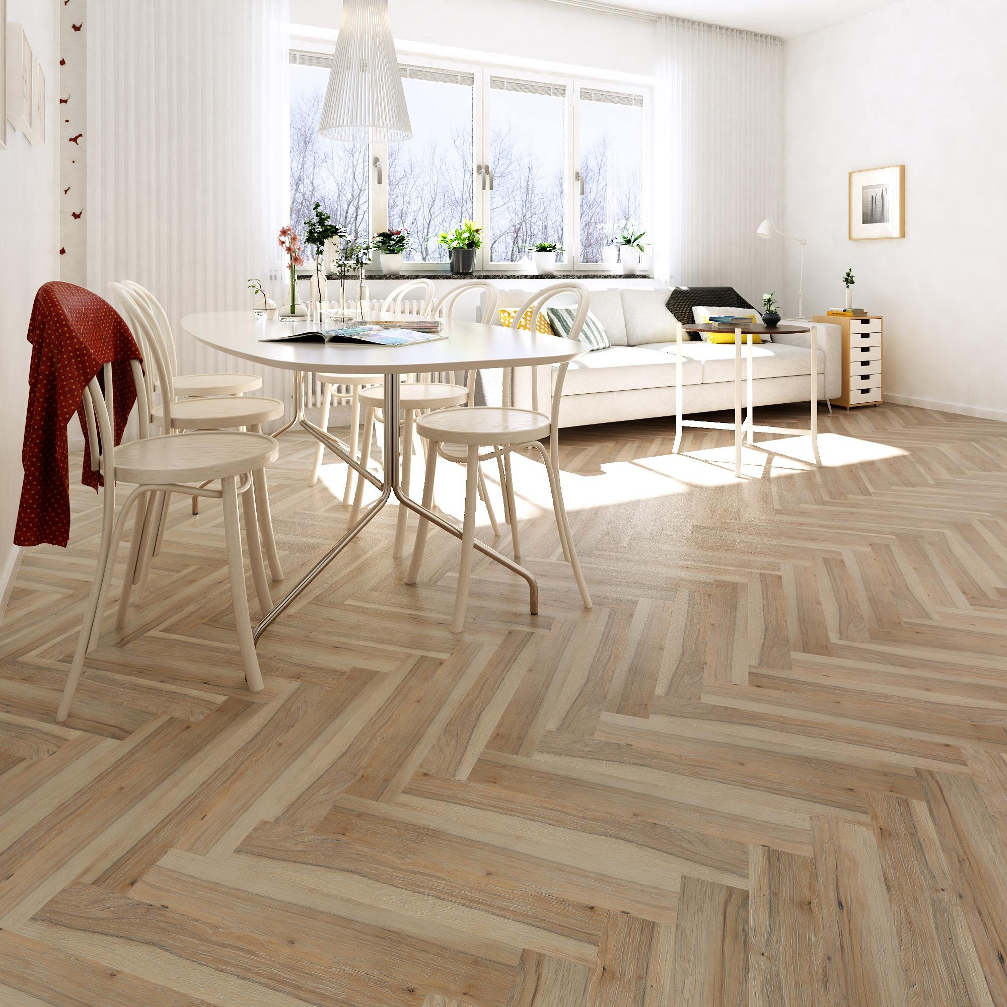 hot sale chic elegant interior design oak engineered herringbone wood flooring
