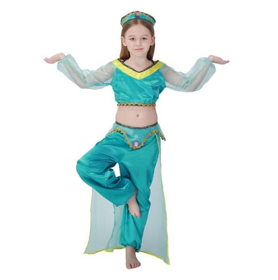 AladdinのLamp Jasmine Costume Arab Girl Belly DanceとIndia Dance Costume