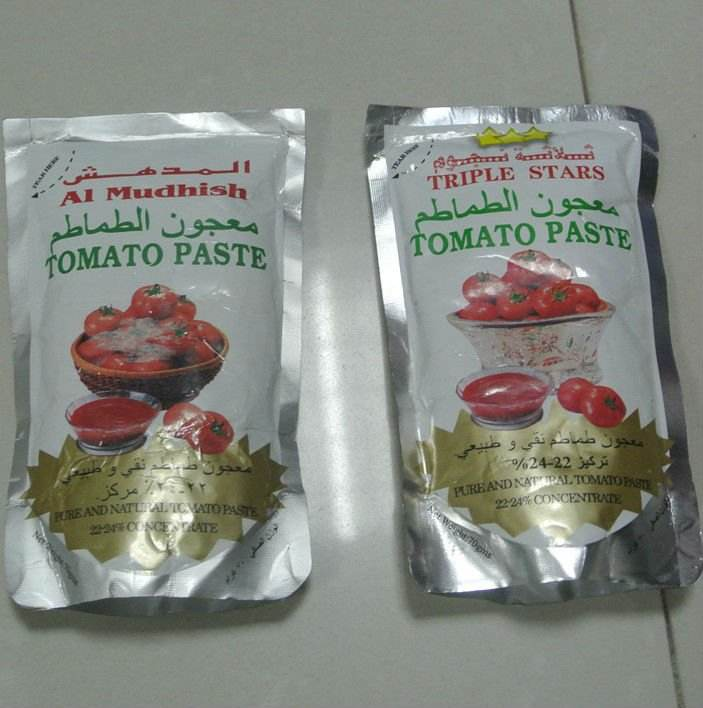70g tomato paste pouched for africa