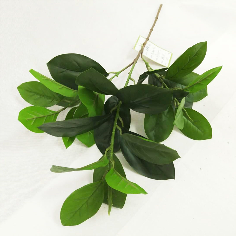Kunstmatige Real touch Faux Jackfruit Boom Blad Takken Stengels Groene Plant Greenery voor Wedding Party Decoratie