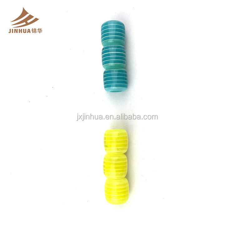 High Quality Lowest Price 6MM Of A Stripe Swimwear Resin Bead