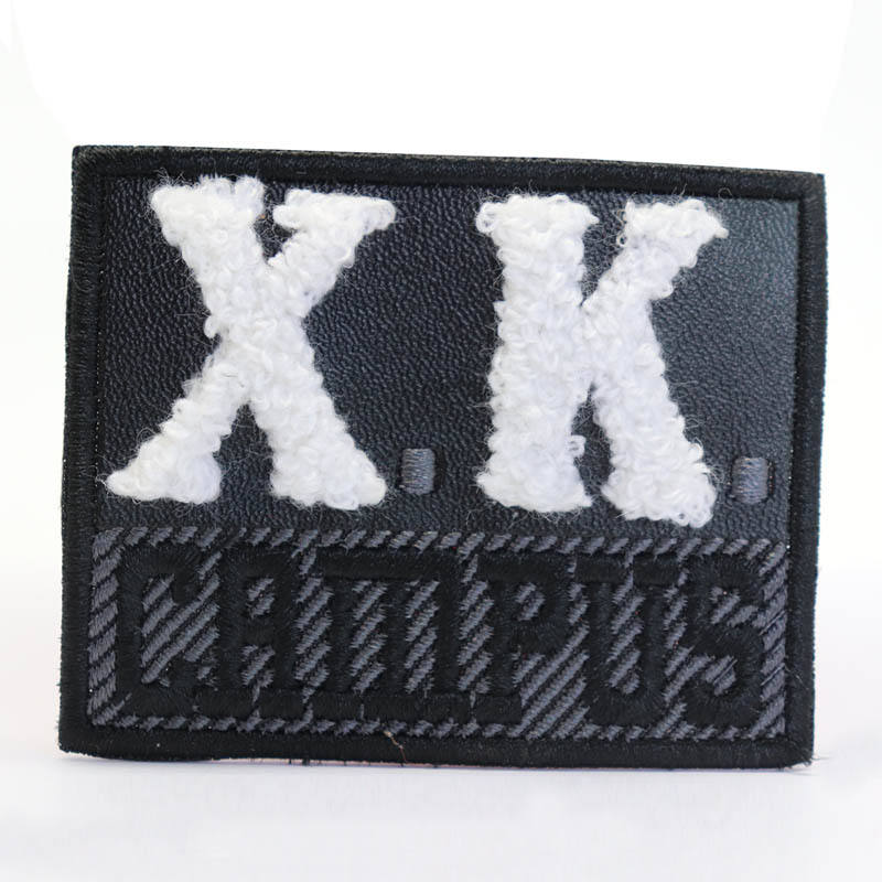 Hotsale embroidery patches iron on logo patch with chenille letters