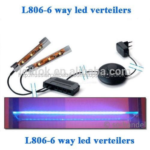 привели мини l806-6 путь verteiler распределение распределительные коробки с ножной переключатель для светодиодные стеклянная
