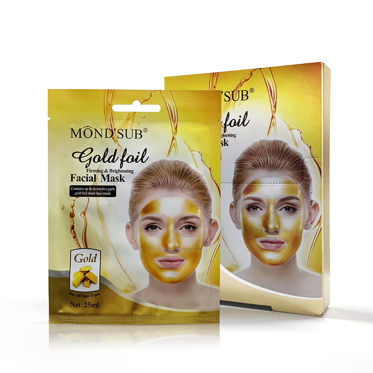 MOND'SUB Golden Foil Firming Brightening Sheet Gold Mask 24K with Private Label