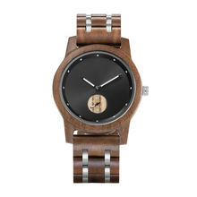 Wholesale Customized Logo Stainless Steel Wood Stone Watches Men Luxury