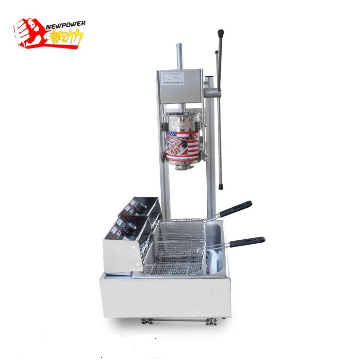 Snack voedsel churros machine churros machine en friteuse met CE