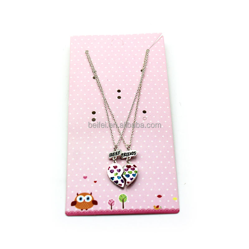 Girls necklace fashion Children princess Necklace Child heart pendant Jewelry Children's Accessories kids Gifts