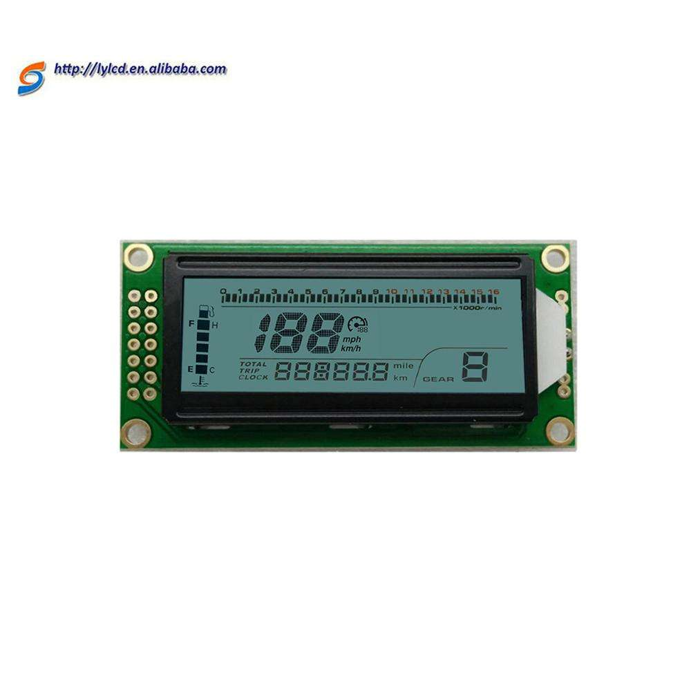 Anti-UV transflective positive oled display 7 seven segment mobile car lcd screen speedometer lcd display module backlight