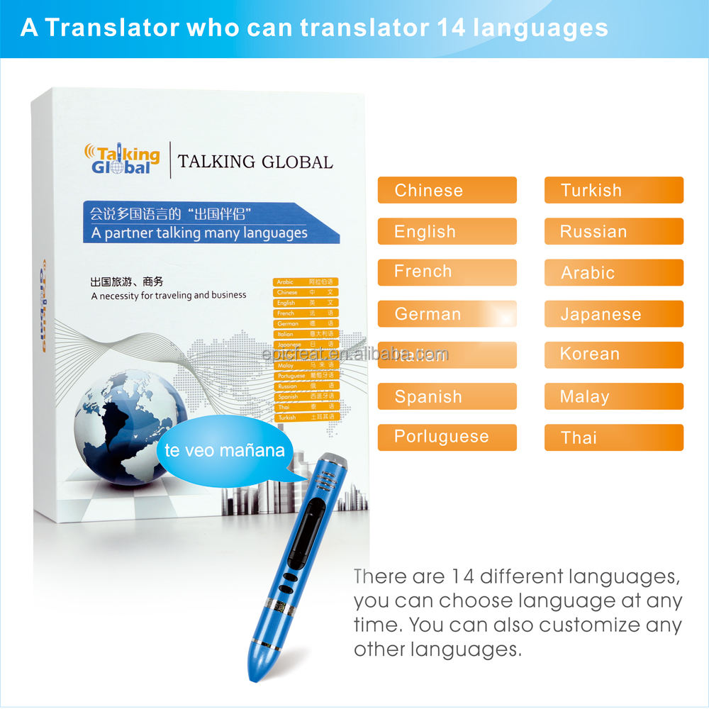 2019 Custom Talking Pen, Electronic reading pen translator, multi language translator