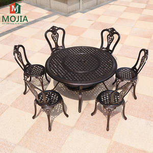 Cast Aluminum Fire Pit Tables For Garden/Backyard BBQ Using Outdoor Gathering Furniture